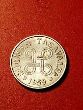 *Finnland 5 markkaa 1959 Eisen vernickelt * Guter Zustand 1+ *