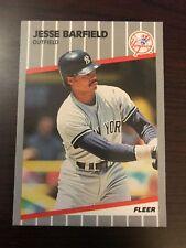 1989 Fleer Update Jesse Barfield New York Yankees U-46