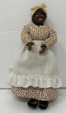 Vintage Artisan Clay Dollhouse Miniature Black Americana Woman Doll