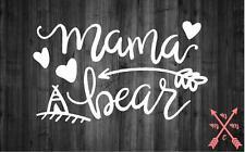 MAMA BEAR MOM FAMILY LOVE VINYL DECAL STICKER LAPTOP YETI TUMBLER CAR CUP TRUCK