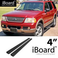 Running Board Side Step Nerf Bars 4in Black Fit Ford Explorer 4-Door 02-05