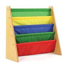 Kids Bookcases Cabinets & Shelves Book Rack Storage Bookshelf, Natural/Primary
