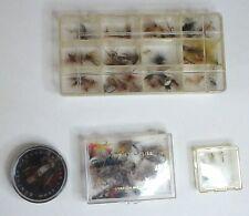 Lot of 66 Vintage Fly Fishing Flies - Dan Bailey Montana box + more!