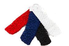 Baby Girls Soft Crochet Headband Hairband Kylie Pack of 4 Red White Navy Black