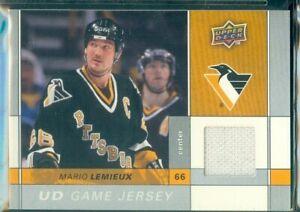 Upper Deck 2009/10 Hockey ( GJ-LX ) Mario Lemieux  Game Jersey Card