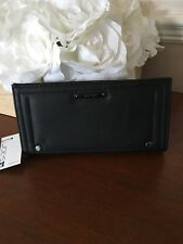NWT JOE'S JEANS WALLET Naomi Style SOLID BLACK Color Vegan Leather Classic