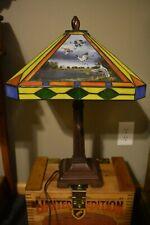 David Maass Danbury Mint Ducks In Flight Stained Glass Art Lamp Free Shipping