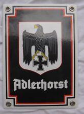 Wehrmacht Emaille Schild FHQ Adlerhorst Kommandeur Kehlsteinhaus Obersalzberg