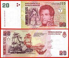 ARGENTINA 20 Pesos 2003 (2010) Serie D Pick 355  SC / UNC
