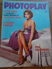 Vtg PHOTOPLAY Mag Apr 61 PETER FINCH BARDOT MARILYN MONROE 60s Film Stars VGC