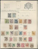 SWEDEN OLD COLLECTION 1855-1889,assortment POSTMARK,Perforated NOT CHECK FVF