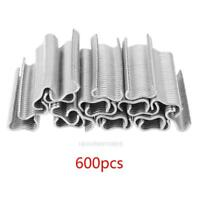 600 x Heavy Duty Hog Ring M Nail Staples Chicken Mesh Duck Dog Cage Wire Fencing