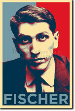 Bobby fischer art photo imprimé (obama hope) poster cadeau chess