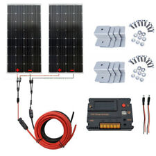 300W Off Grid Kit 2PCS 150W Mono Solar Panel w/ Solar Controller for RV Camp