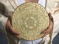 """10.75"""" Wooden Enochian Sigillum Dei Ameth"""