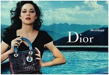 Publicité Advertising 2011 (2 pages) Le sac à main Dior avec Marion Cotillard