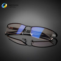 Anti-fatigue UV400 Eyewear Men Blue Light Blocking Computer Glasses Game Goggles