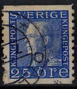 SWEDEN 1934 King Gustaf V /Mi:SE 185II WA/ Scott # 176 25ore STAMP