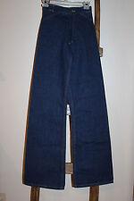 Vintage~H.A.S.H.~HASH~Bell Bottom~HIGH WAIST~Jeans~DARK WASH~27~24 x 36~NEW~NOS