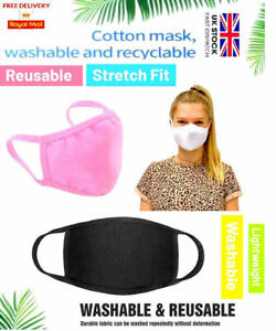 Face Mask Washable Breathable Reusable Adult Mouth Protection Cover 4 colours