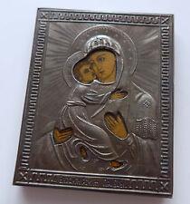 Alte russische Reise Ikone silber 84 oklad gestempel 1890