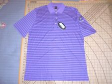 MENS LARGE PURPLE STRIPED GREG NORMAN COYOTES ALUMNI POLO SHIRT - NWT