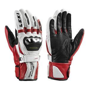 NEW HIGHEND $220 Leki World Cup Racing Titanium S Leather Ski Gloves Winter Mens