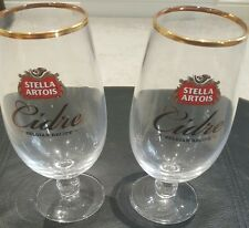 SET OF 4 STELLA ARTOIS CIDRE PINT GLASS CHALICE NEW/UNUSED pub/bar/mancave