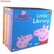 Peppa Pig Little Library Bedtime Stories Set 4 Children Mini Collection Books UK