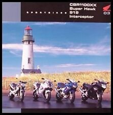 2003 Honda CBR1100 Super Hawk 919 Interceptor Sport Bike Motorcycle Brochure