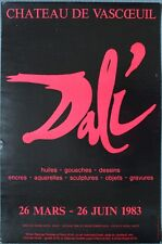 Salvador DALI - Expo Château de Vascoeuil 1983 Huiles Gouaches Dessins Encres...
