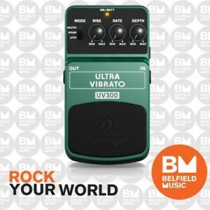 Behringer Ultra Vibrato UV300 Classic Vibrato Effects FX Pedal UV-300 -Brand New