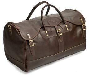 Pebbled Leather Duffel Bag Made in America by Duluth Pack
