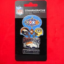 NEW Commemorative SUPER BOWL XXXII NFL Broncos vs Packers Pin
