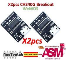 2pcs WEMOS CH340G Breakout 5V 3.3V USB to serial module
