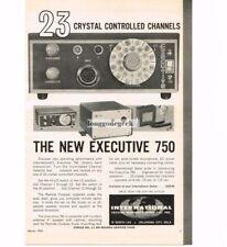 1964 International Crystal Executive 750 Transceiver CB Ham Radio Vtg Print Ad