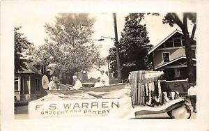 H51/ Lexington Kentucky RPPC Postcard c1910 F.S. Warren Grocery Bakery