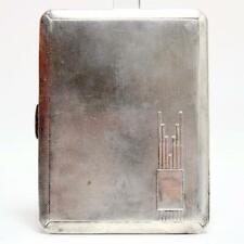 Antique W.T. Toghill British Sterling Cigarette Case W/Gold Wash Interior