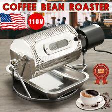 US 110V Coffee Bean Roasting Machine Roaster Roller Stainless Steel Baker Home