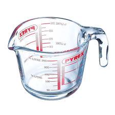 Jarra de medición de vidrio transparente Pyrex Taza Vaso capacidad 250ml