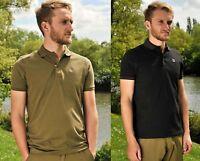 Korda Kore Polo Fishing Tee Black Olive All Sizes Coarse Carp T-Shirt