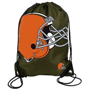 Cleveland Browns Back Pack/Sack Drawstring Bag/Tote NEW Backpack BIG LOGO