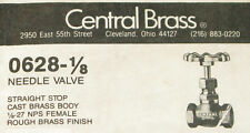 Needle Valve Central Brass  # 628 - 1/8 New