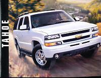 2003 Chevrolet Tahoe Truck Sales Brochure Book Chevy