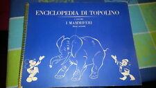 ALBUM FIGURINE ENCICLOPEDIA DI TOPOLINO-MAMMIFERI-VOL I- parte seconda-COMPLETO