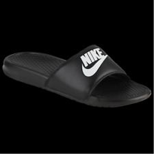 NEW Nike JDI Benassi Mens Slides in Black/White Size 10-14 Sandals Slippers
