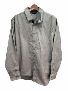 Adidas Golf Mens Adicross Adix Long Sleeve Woven button up shirt Large