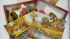 Lot of 2 Vintage AMC Gobelinbild Needlepoint Kit/frame