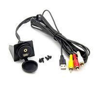 USB 2.0 AUX 3X Cinch Einbau Buchse Adapter Kabel Verlängerung für Auto Boot PC
