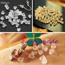1000pcs  Wholesale Clear Soft Rubber Earring Back Stopper 5mm Jewelry Findings Q